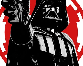 Star Wars - Darth Vader Style Geeky Birthday Card