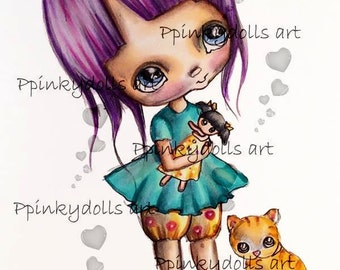 INSTANT DOWNLOAD Digital Digi Stamps..by Chrishanthi's art,My friends''