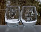 Stemless Wine Glasses Fun...