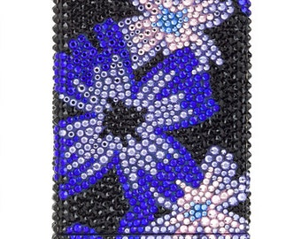 Midnight Bloom Series iPhone 4 & 4S Case Fully Embellished With Swarovski Crystals