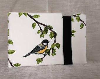 Padded laptop sleeve bird pattern