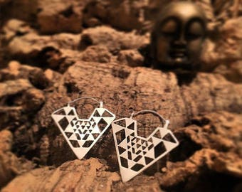Tribal Earrings Yantra Ethnic Valentine's Day earrings