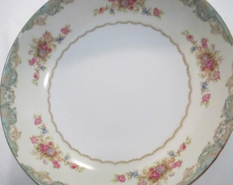 Vintage Jyoto China Windsor Round Serving Vegetable Bowl, Shabby, Farmhouse, Wedding, Tea Party, Thanksgiving, Christmas