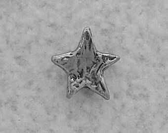 Green Girl Studios Small Star Pewter Button