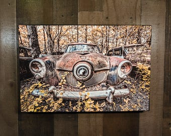 Classic Car Picture 1951 Studebaker Commander Wall Hanging Art Photograph Print on Canvas
