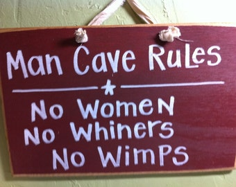 Man Cave Rules Signs : Elegant man cave sign welcome to the mancave signs