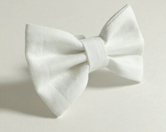 Ready to Ship - White Bow Tie - Simply White
