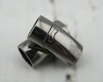 5 Sets Gunmetal Magnetic Clasp For Licorice Leather 10.5x6.5mm