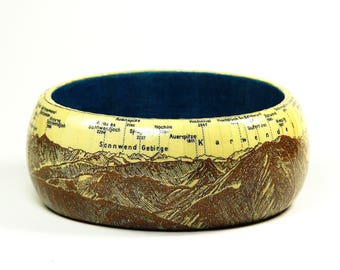 Bracelets Wendel Stein 1928 Panorama West Vintage mountain guide Alps gift wrapping gift for you