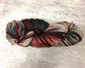 Feza Artist Chunky Hand Dyed 2036 Burgundy Brown Dark Green Superwash Merino Wool