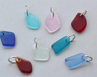Add a sea glass drop charm, add beach glass charm, beach glass add on, beach charm, sea charm, nautical charm