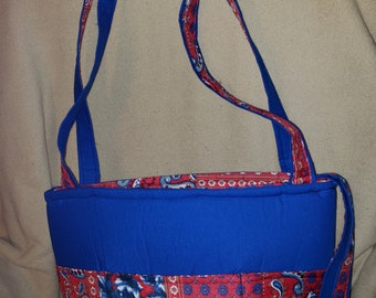 Blue and Red Medium Tote