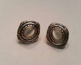Vintage Roman Silver Earrings Costume Jewelry