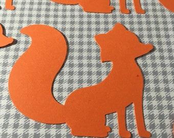 Fox Die Cut - set of 10 Orange Fox