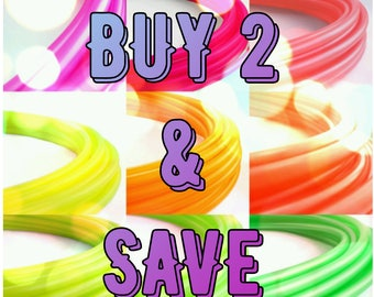 Polypro Hula Hoop SAVE BIG Buy Any 2 Polypro or HDPE Hula Hoops // Collapsible // Customizable// Light Weight//Trick Hoop//Dance Hoop