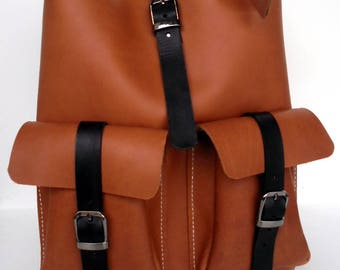 Brown Leather Tote - Brown Leather Bag -  Brown Leather Bag,Simple Leather Tote