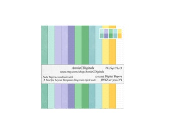 Digital Scrapbook Paper: Pastels Paper Pack