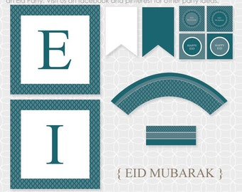 DIY EID Mubarak Party Theme  - Instant Download - Eid banner, Eid party decor, Eid decorations