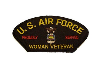 USAF United States Air Force Woman Veteran Patch Airman Female