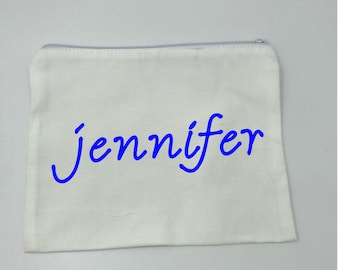 Personalized bag for cosmetics/trinkets, Birthday gift, personalized trinket bag, make-up bag