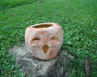 Vintage Paper Mache Jack O Lantern - Pumpkin