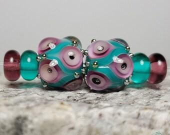 Handmade lampwork bead set