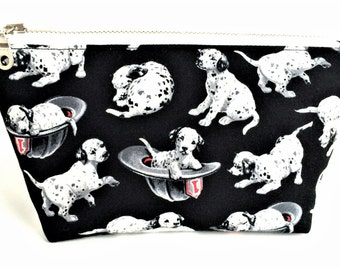 DALMATIAN GIFT - Dalmatian Bag - Cute Makeup Bag -  Gift for Dog Lover - Dog Zipper Pouch - Small Makeup Bag - Small Cosmetic Bag