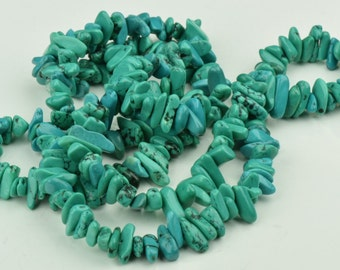 Turquoise Chips 9mm Turquoise Chip Beads, Semi-Precious 36in Strand, 1 strand 08108
