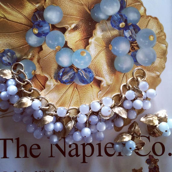 Fablous Napier Moonglow Bracelet and Earring set