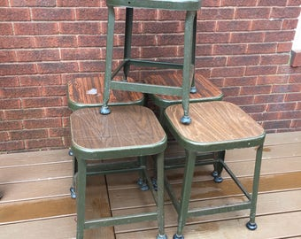 Drafting Stool, metal stool, Industrial, Lyon