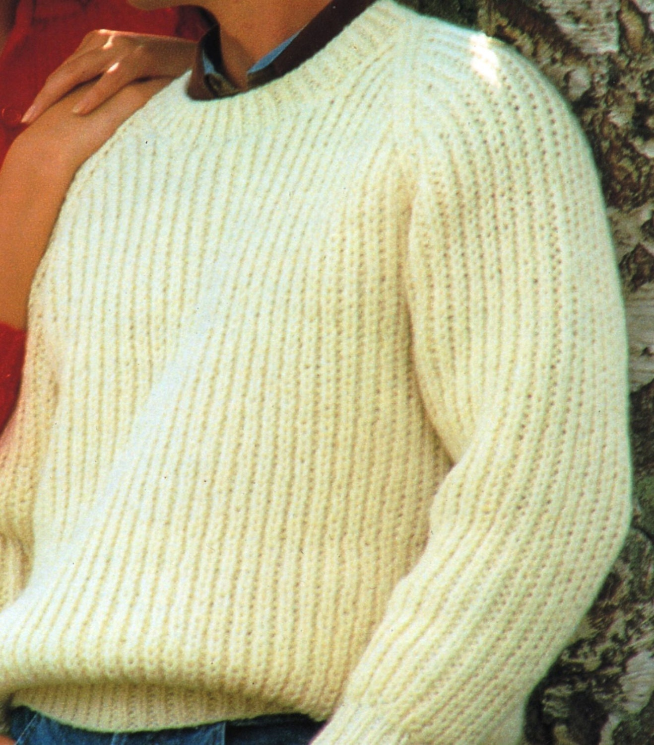 PDF Knitting Pattern / Men\'s or Women\'s Ribbed Sweater / His and ...