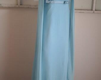 Vintage 1960s Baby Blue Prom / Bridesmaid Dress
