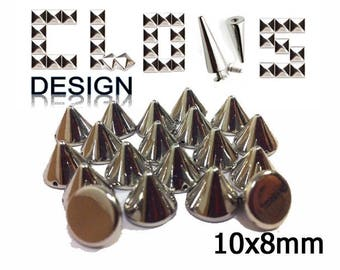 Customisation X 30 for customization 10X8mm silver cone studs