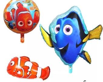 "5pcs 18"" Nemo and Dory Balloon Set   AG36"