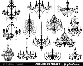Chandelier Clip Art Scrapbooking Chandelier Clipart Printable Vintage Chandelier Wedding Invitation INSTANT DOWNLOAD