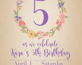 Floral Birthday Invite