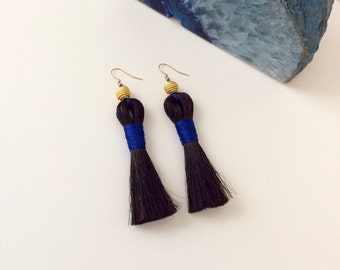 Horsehair Tassel Earrings, Tassel Earrings, Statement Earrings, Handmade Earrings, Avant Garde Earrings, Southwestern Earrings, OOAK