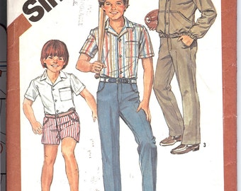 Simplicity 5957 Sewing Pattern  Boy's Pants or Shorts, Shirt and Unlined Jacket  ID301
