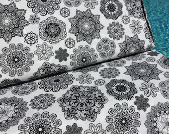 Doilies White Color ~ Happy Halloween Collection by Patrick Lose ~ Cotton Quilt Fabric