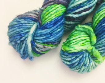 High Tide - Hand dyed bulky weight merino yarn