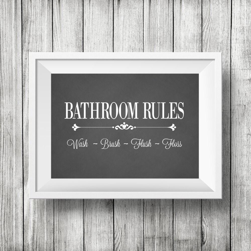 Fashion Bathroom Decor: Bathroom Chalkboard PrintBathroom Wall Decor Vintage Style