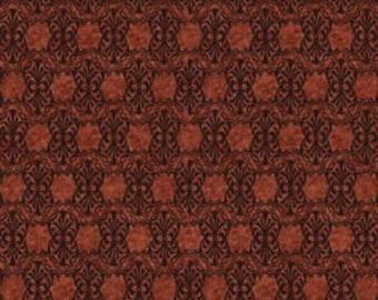 Autumn Glory Hexagonal Tonal Rust Fabric 1 Yard