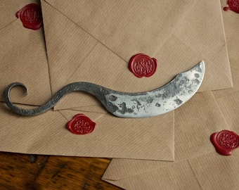 Handmade Blacksmith Letter / Parcel Opener // Gift for him // Gift for her // Dad // Boyfriend // Husband // Brother // Medieval gifts
