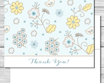 Thank you Notes--Spring Daisies and Bluebells--509S