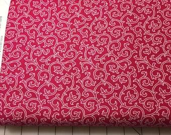 White Trellis on Hot Pink Cotton Woven