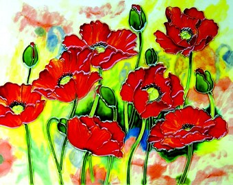 11x14 RED POPPIES