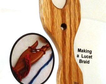 Lucet for Braiding Handmade American Red Oak Hardwood ~ Easy Braiding and Cording