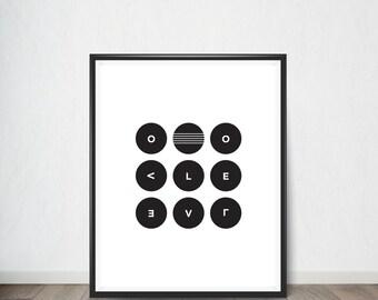 Abstrat Circle LOVE Print, Art Print, Digital Art, Digital Art Print, Digital Artworks, Digital Print Art, Digital Art Download