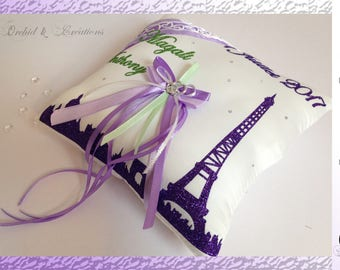 Cushion alliances Paris - Eiffel Tower - wedding - choose personalization