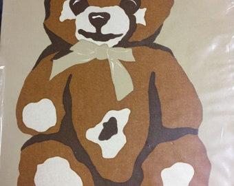 Teddy Bear Marushka print Framed silkscreen art